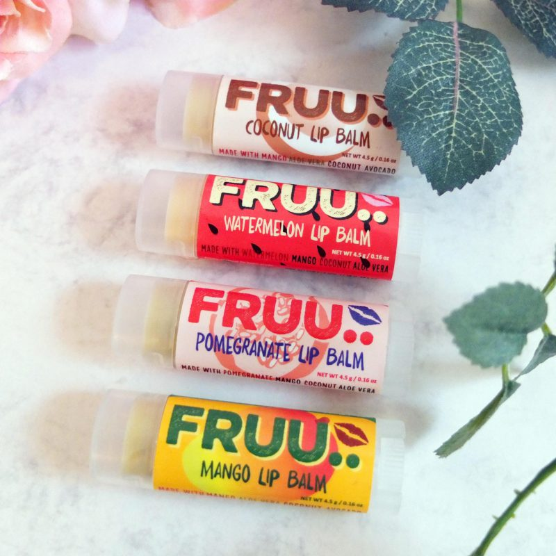 Organic fruit lip balm